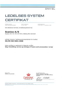 Scanico Management System certificate